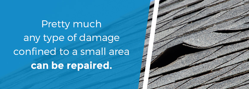 repair your roof if the damage is only minor