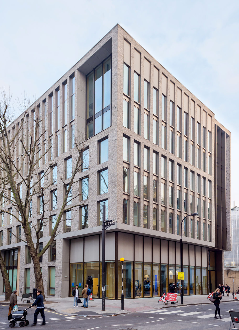 The exterior of the refurbished Bartlett School of Architecture, 22 Gordon Street. London by Hawkins/Brown Architects