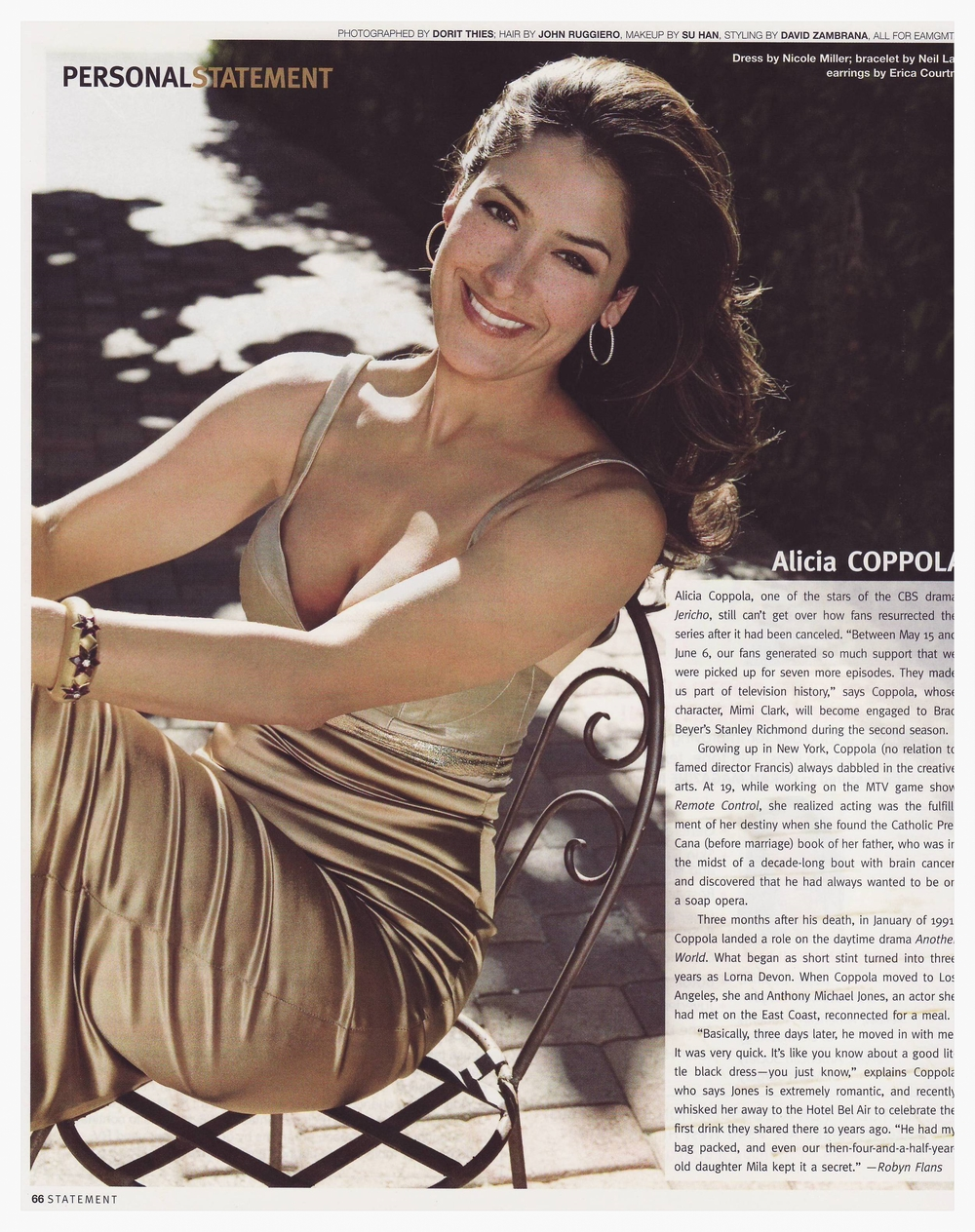 Alicia Coppola  Statement Magazine