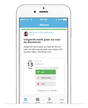 De Social Schools IOS app