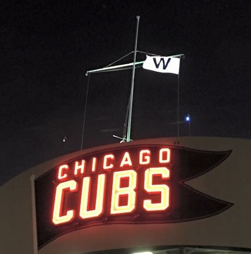 This photo was taken by Meghan McNamara following the Cubs playoff victory on October 12th