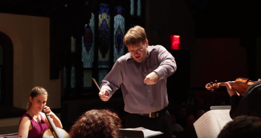 Conductor Chris Whittaker at our WHCO Strings concert.