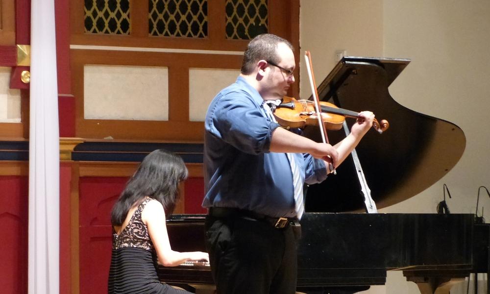 Amos Fayette in recital.