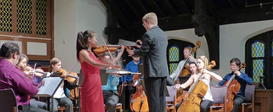 Violinist Sarah Ma and Conductor Chris Whittaker.