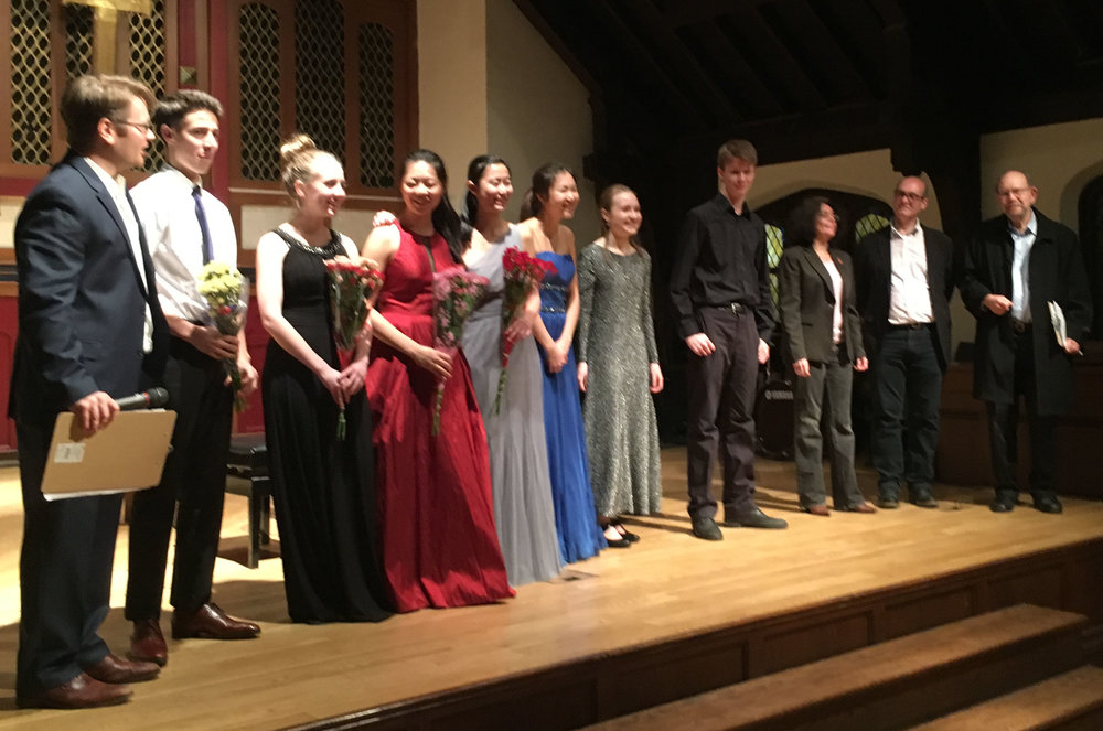 Group bow from our finalists and judges.  Bravi tutti!