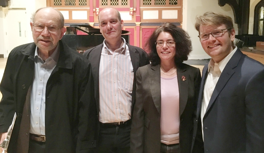 From left: Samuel Rhodes, Philip Lasser, Anna Rabinova, Chris Whittaker