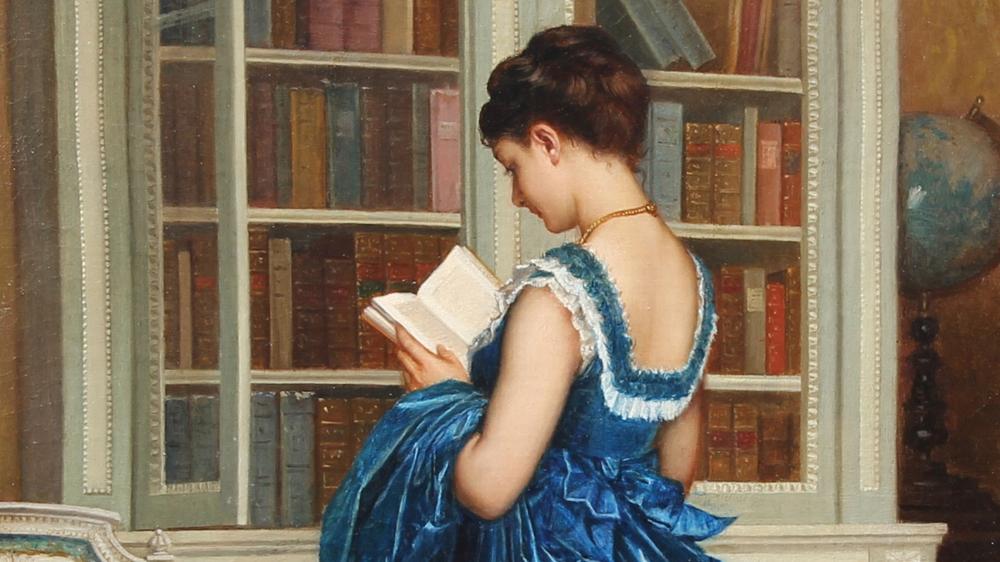 AUGUSTE TOULMOUCHE,Dans la Bibliothèque