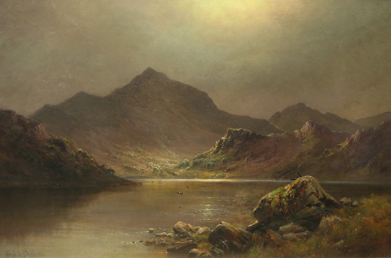 Alfred de Breanski | Snowdon at Midnight