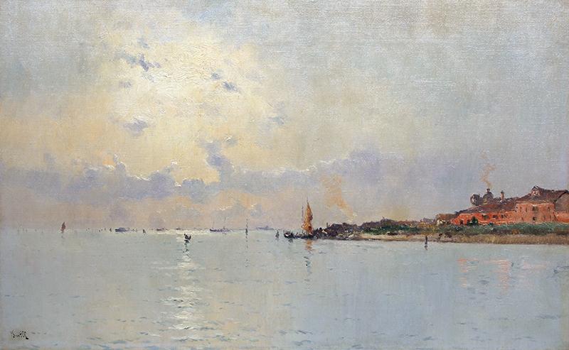 Marie Joseph Leon Clavel | View of Giudecca, Venice