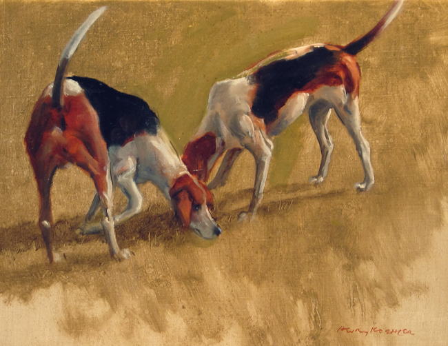 Henry Koehler | Two Fox Hounds