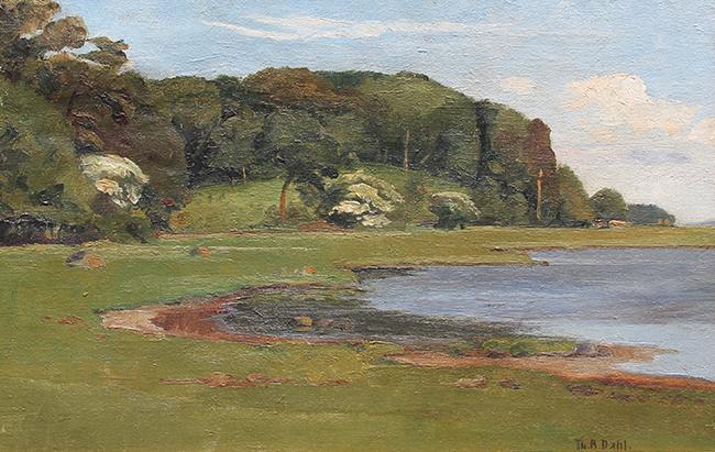 Theodor Bernhard Dahl | A Summer Landscape
