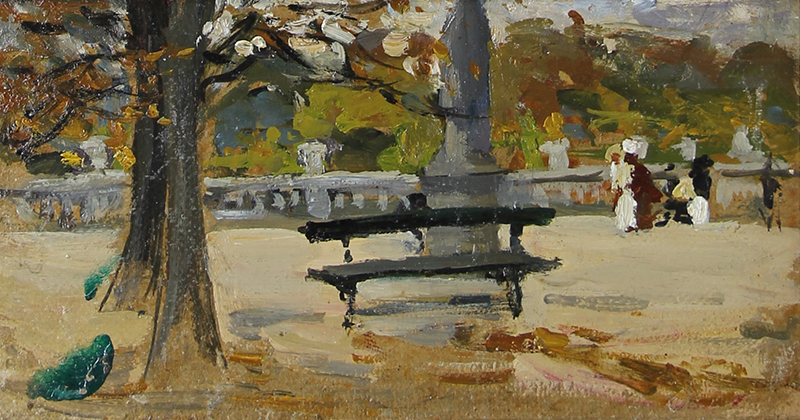 Alice Dannenberg | Park Bench, Paris