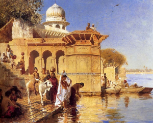 EDWIN LORD WEEKS  At the Ghats, Mathura