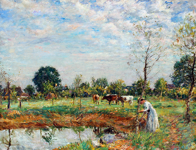 William Mark Fisher | Silvery Day, The Farm Pond