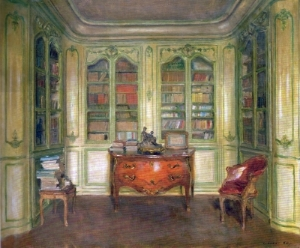 WALTER GAY,  Library, Château du Bréau  SMITH COLLEGE MUSEUM OF ART