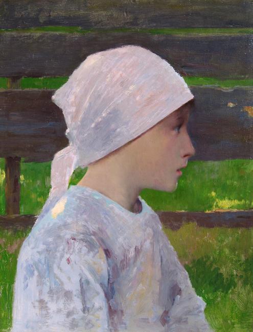 Louis Welden Hawkins | A Breton Girl