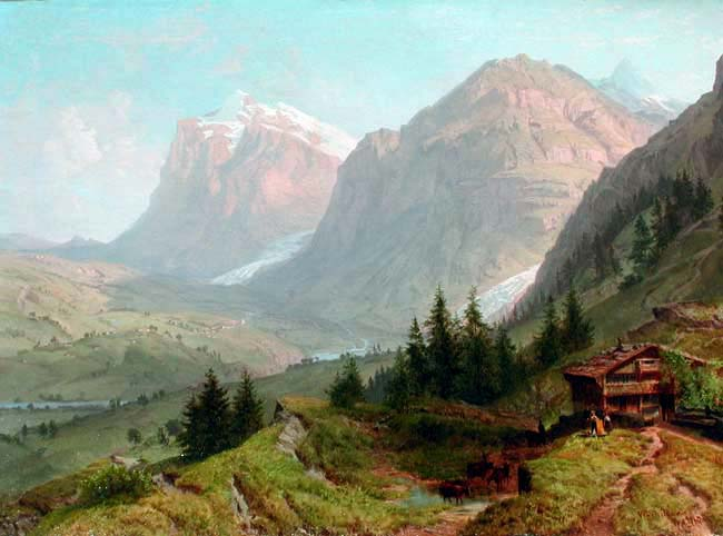 William Trost Richards | Alpine Landscape