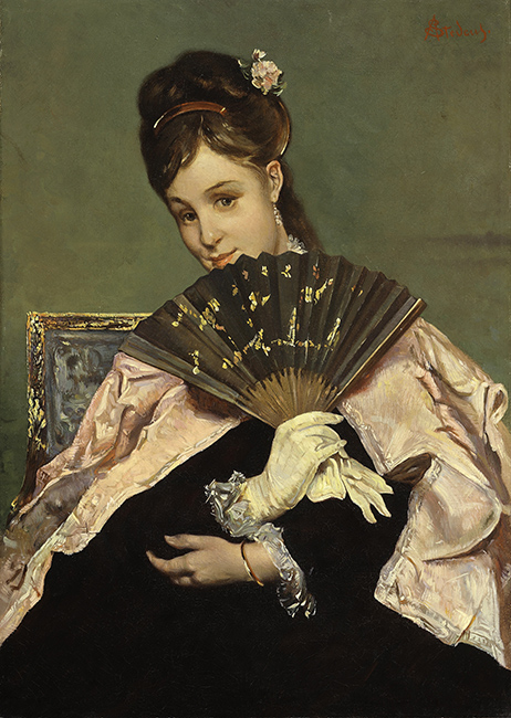 Alfred Stevens | A Lady with a Fan