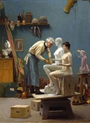 JEAN-LÉON GÉRÔME, The Artist Sculpting Tanagra, DAHESH MUSEUM OF ART