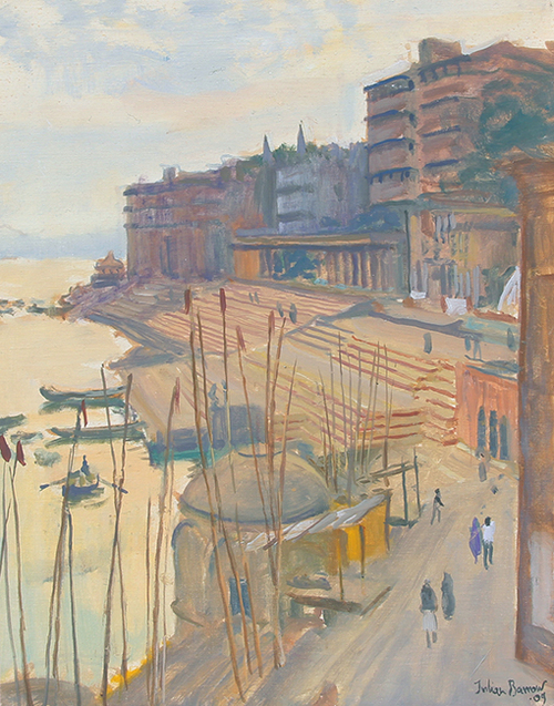The Ganges, Varanasi, India   Oil on canvas 14 x 11 inches (35.5 x 28 cm)  SOLD