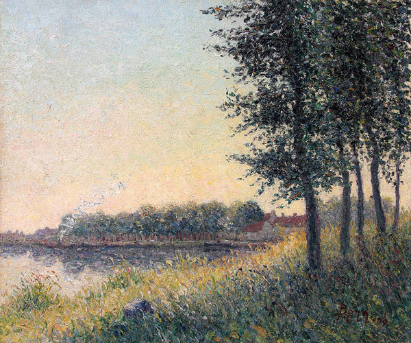 Bernhard Klène | A River Landscape in Summer