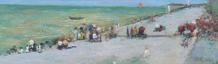 ALBERT AUBLET Sur la Plage Oil on panel 4¼ x 13½ inches (11 x 34 cm) $5,800 Click here for more information