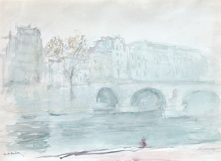 Ile de la Cité, Paris Watercolor on paper 11½ x 15½ inches (29.2 x 39.4 cm) $3,500 Click here for more information