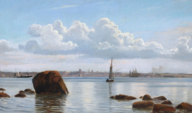 CHRISTIAN VIGILIUS BLACHE  Coastal View   Oil on canvas 15½ x 25½ inches (39.2 x 64.7 cm) $9,000 Click here for more information
