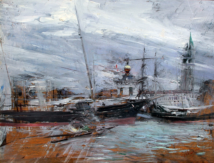 GIOVANNI BOLDINI Venezia Oil on panel 10½ x 13¾ inches (27 x 35 cm) SOLD