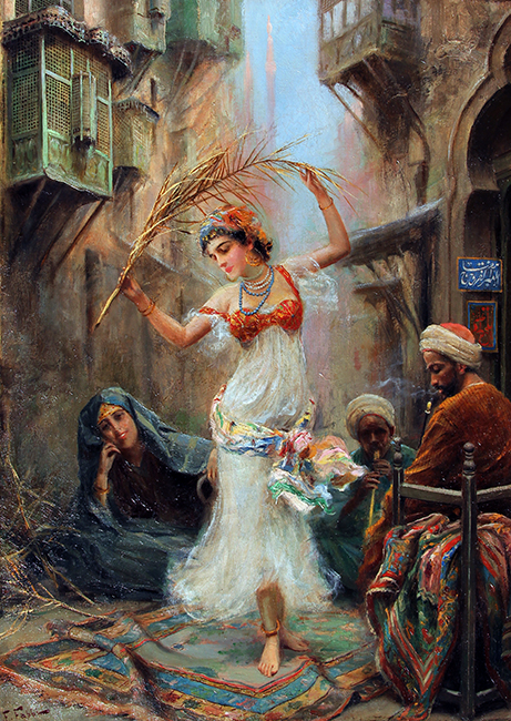 FABIO FABBI    An Oriental Dancer   Oil on canvas 24 x 17 inches (61 x 43 cm) $65,000 Click here for more information