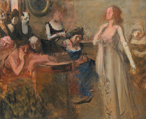 JEAN-LOUIS FORAIN The Recital Oil on canvas 23½ x 29 inches (59.6 x 73.7 cm) $28,000 Click here for more information