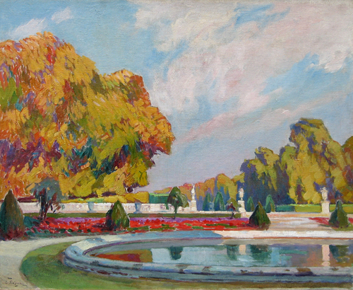 PAUL LÉON FREQUENEZ    Parc Saint Cloud, Paris   Oil on canvas 26 x 32 inches (65 x 84 cm) $9,000 Click here for more information
