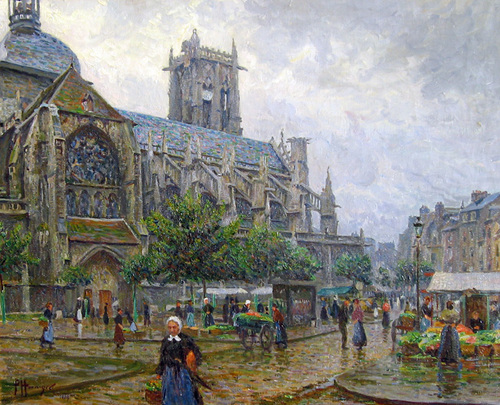 PAUL HOENIGER    Church of St. Jacques, Dieppe   Oil on canvas 29 x 36 inches (73.6 x 91.3 cm) $18,500 Click here for more information