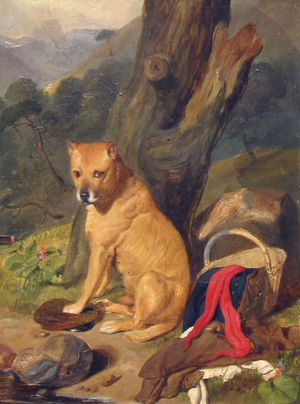 SIR EDWIN LANDSEER AND STUDIO    Waiting for Master   Oil on panel 17 x 13 inches (43 x 33 cm) $12,000 Click here for more information