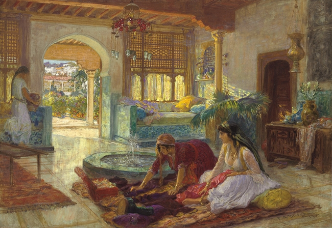 Frederick Arthur Bridgman | The Fountain Room
