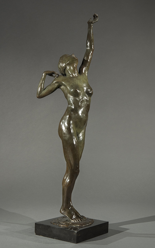 BONNIE MCLEARY Aspiration Bronze with dark green patina, on a composition base 28½ inches (72.4 cm) without base; 30½ inches (77.5 cm) with base SOLD