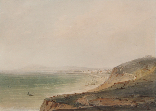 JOSEPH MALLORD WILLIAM TURNER    Fano on the Adriatic   Watercolor on paper 6½ x 9¼ inches (16.5 x 23.5 cm) $45,000 Click here for more information