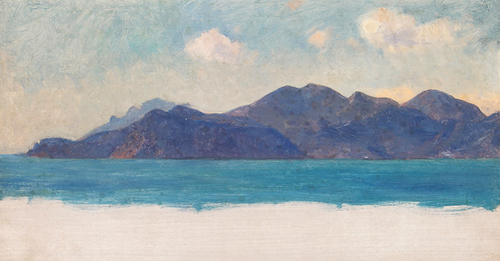 SIR ERNEST WATERLOW  A Mediterranean Coastal Study   Oil on panel 8½ x 16 inches (22 x 40.5 cm) $5,500 Click here for more information