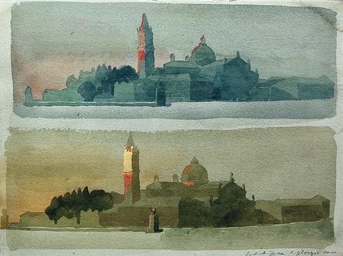 Isola di San Giorgio, Venice Watercolor and gouache on paper 11 x 15 inches (28 x 38 cm) $5,000 Click here for more information