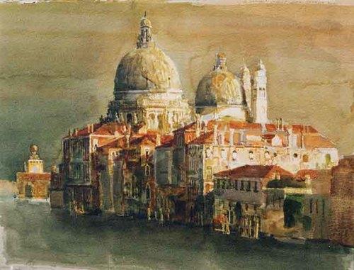 Santa Maria della Salute II Watercolor on paper 22 x 30 inches (55.9 x 76.3 cm) $8,000 Click here for more information