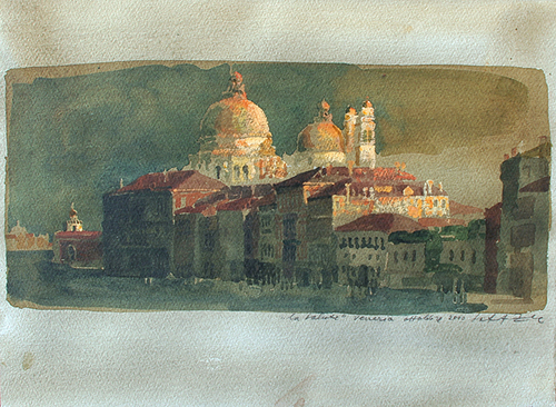 SAFET ZEC Santa Maria della Salute, Venice Watercolor and gouache on paper 11 x 15 inches (28 x 38 cm) SOLD