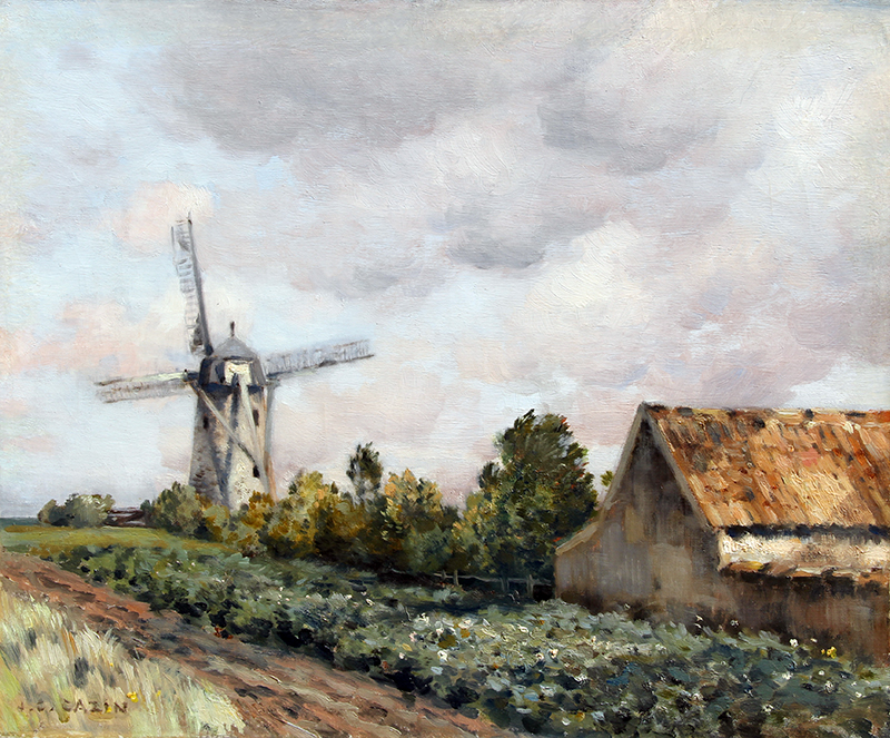 JEAN CHARLES CAZIN    The Mill   Oil on canvas 15 x 18 inches (38 x 46 cm) $9,500 Click here for more information