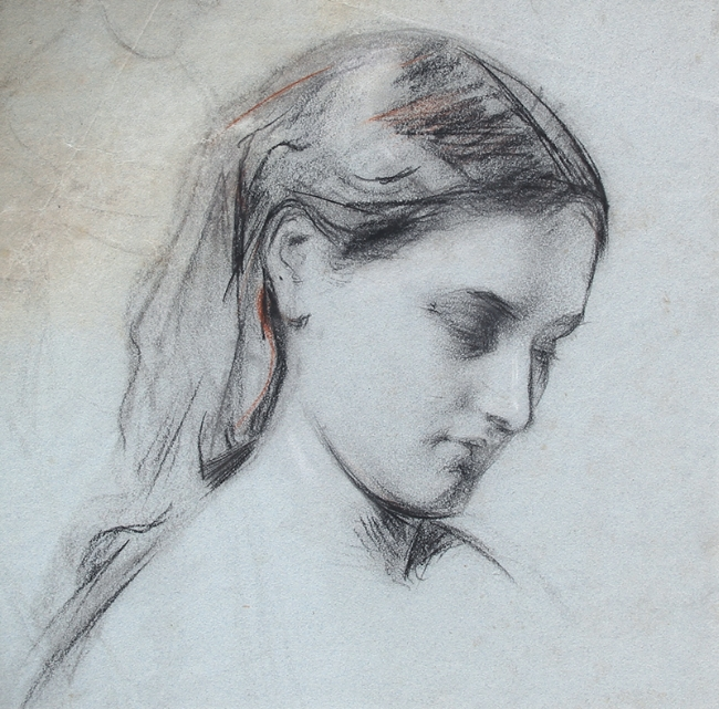 George William Joy - Study of a Girl