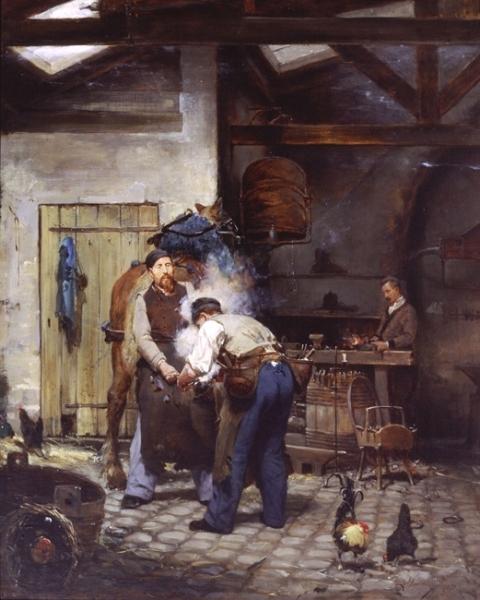 Alfred Jacomin | At the Blacksmith's