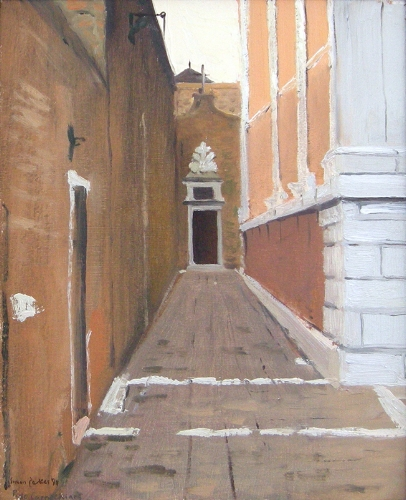 SIMON PARKES    Porto de Capuccines, Venice   Oil on paper laid down on canvas 11¼ x 9 inches (28.5 x 22.8 cm) $4,500 Click here for more information