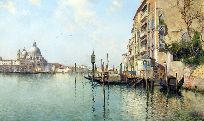 EMILIO SANCHEZ-PERRIER  The Grand Canal, Venice   Oil on canvas 20½ x 33½ inches (52 x 85 cm)  SOLD