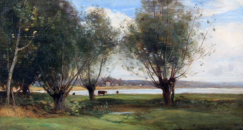 Lavieille, Eugene - Waters Edge landscape