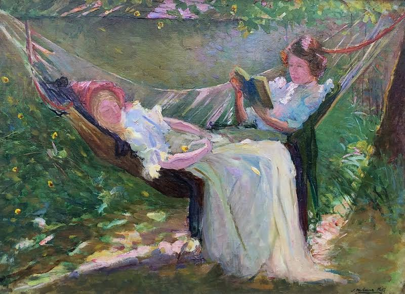 JOSEPH MILNER KITE    In the Hammock   Oil on canvas 22½ x 29½ inches (57.2 x 75 cm) $18,000 Click here for more information