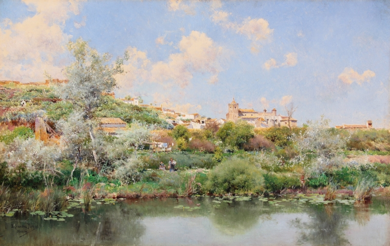 Emilio Sanchez-Perrier View near Alcala