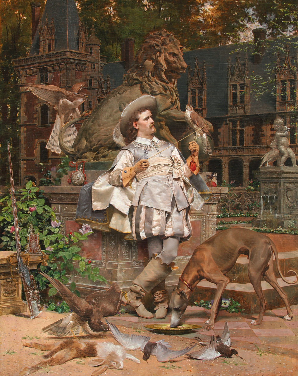 PAUL VIRY The Falconer Oil on panel 21 x 17 inches (53.3 x 43.2 cm) $18,000 Click here for more information